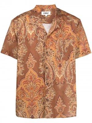 Рубашка с принтом пейсли YMC. Цвет: коричневый