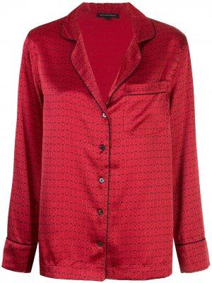 Пижама с узором Kiki de Montparnasse. Цвет: красный