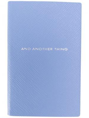 Записная книжка And Another Thing Smythson. Цвет: синий