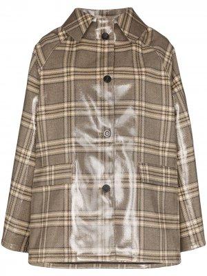 Пальто в клетку KASSL Editions. Цвет: коричневый