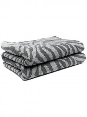 Одеяло с зебровым принтом AMI AMALIA. Цвет: серый