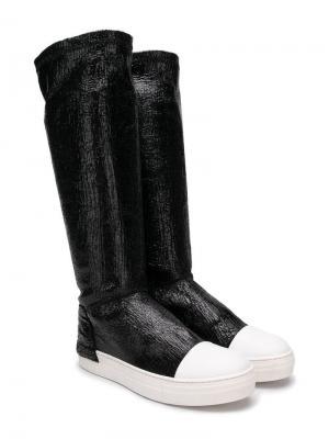 Softy knee boots Cinzia Araia Kids. Цвет: черный