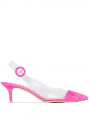 Туфли Alice 55 из ПВХ Gianvito Rossi. Цвет: розовый