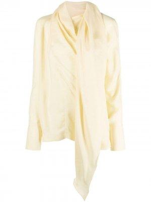 Рубашка с шарфом Materiel. Цвет: желтый