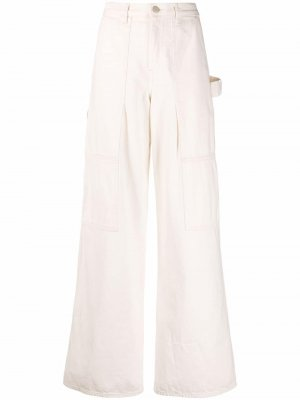 Расклешенные брюки Helmut Lang. Цвет: белый