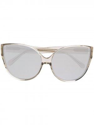 Солнцезащитные очки Flyer Linda Farrow. Цвет: серый