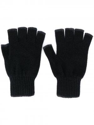 Перчатки-митенки Pringle of Scotland. Цвет: черный