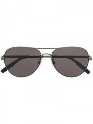 Солнцезащитные очки-авиаторы Montblanc. Цвет: черный