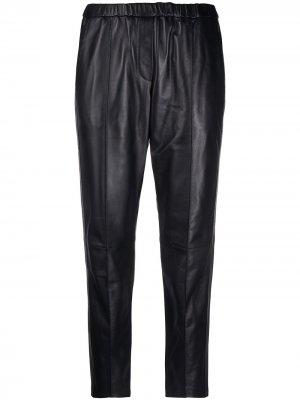 Укороченные брюки Yves Salomon. Цвет: черный