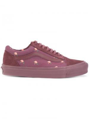 Кроссовки с цветочным узором Vans. Цвет: красный