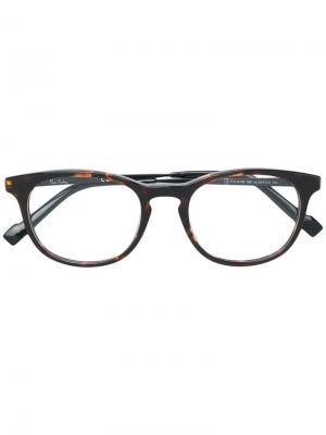 Очки в овальной оправе Pierre Cardin Eyewear. Цвет: коричневый