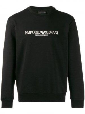 Толстовка с логотипом Emporio Armani. Цвет: черный