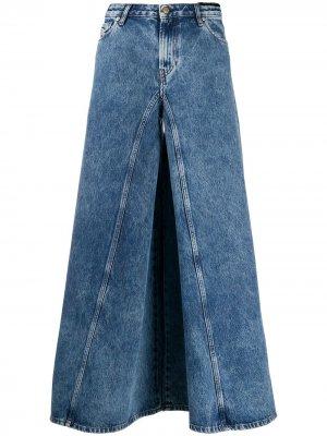 Широкие джинсы D-Spritzz Diesel. Цвет: синий