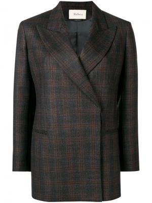 Структурированный пиджак Mulberry. Цвет: коричневый