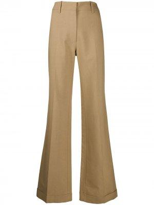 Расклешенные брюки с завышенной талией Victoria Beckham. Цвет: коричневый