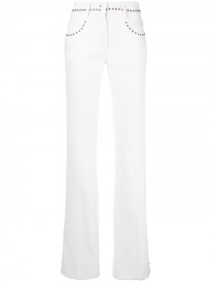 Расклешенные брюки с заклепками Giambattista Valli. Цвет: белый