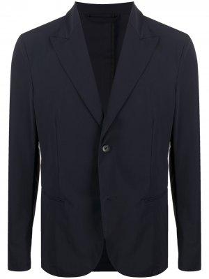 Однобортный пиджак в тонкую полоску Hydrogen. Цвет: синий