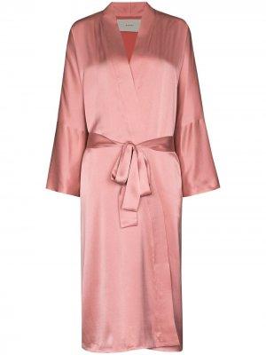 Длинный халат  Athens Asceno. Цвет: розовый