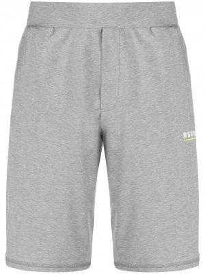 Спортивные шорты с логотипом MSGM. Цвет: серый