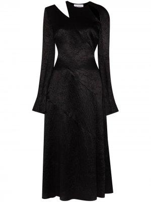 Ursina satin cutout midi dress 16Arlington. Цвет: черный