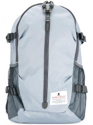 Рюкзак на большой молнии Makavelic. Цвет: синий