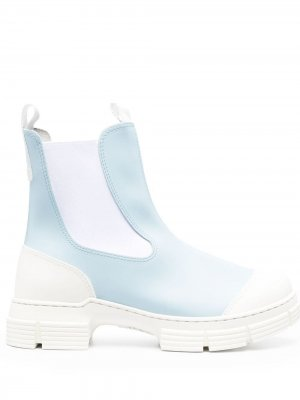 Ботинки челси GANNI. Цвет: синий