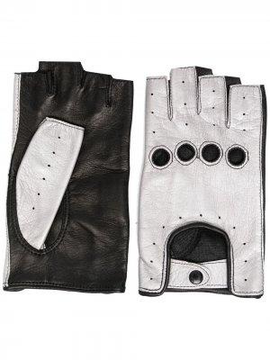 Перчатки-митенки Manokhi. Цвет: черный