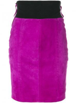 Короткая юбка Gianfranco Ferré Pre-Owned. Цвет: розовый