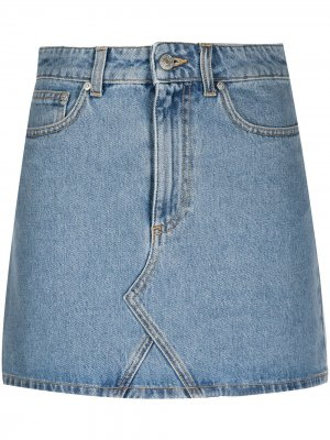 Джинсовая юбка мини Chiara Ferragni. Цвет: синий