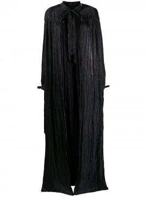 Длинное платье с кейпом Murmur. Цвет: черный