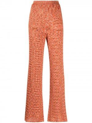 Расклешенные брюки с геометричным принтом M Missoni. Цвет: оранжевый