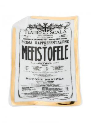 Пепельница Mefisto Fornasetti. Цвет: разноцветный
