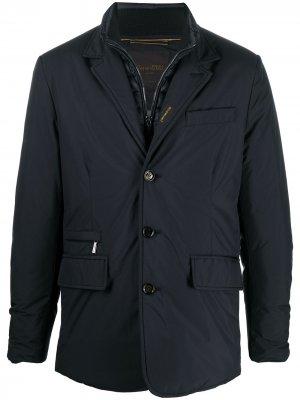Куртка-пуховик Moorer. Цвет: синий