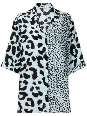 Блузка с леопардовым принтом Être Cécile. Цвет: синий