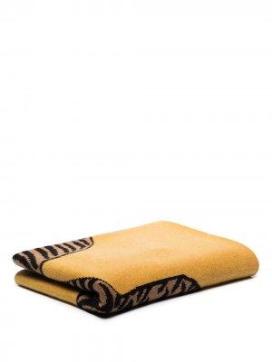 Кашемировый плед с принтом SAVED NY. Цвет: желтый