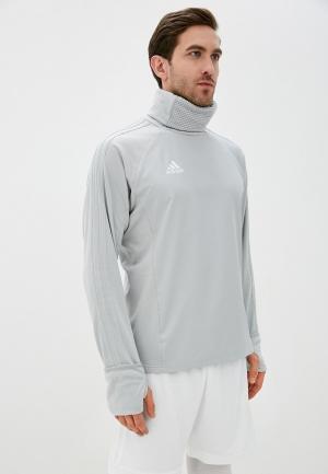 Свитшот adidas. Цвет: серый