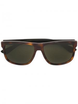 Квадратные солнцезащитные очки Gucci Eyewear. Цвет: коричневый