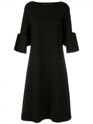 Платье миди А-силуэта Gloria Coelho. Цвет: черный
