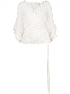 Блузка Maggie с запахом Sachin & Babi. Цвет: белый