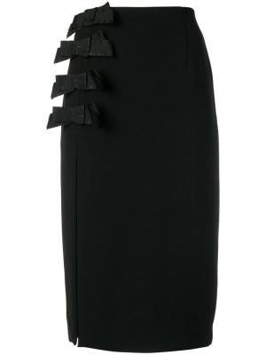 Bow pencil skirt Ki6. Цвет: черный