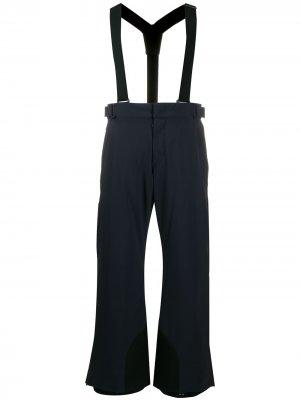Лыжные брюки с подтяжками Moncler Grenoble. Цвет: синий
