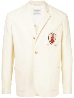 Блейзер с накладными карманами Kent & Curwen. Цвет: нейтральные цвета