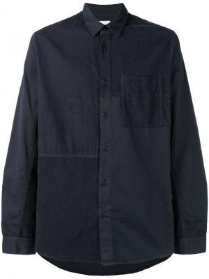 Patchwork shirt Folk. Цвет: синий