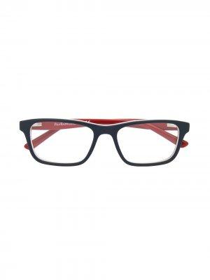 Очки в прямоугольной оправе Polo Ralph Lauren. Цвет: синий