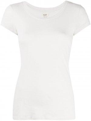 LAgence футболка с U-образным вырезом L'Agence. Цвет: нейтральные цвета