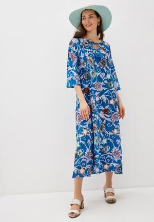 Платье пляжное Allegri. Цвет: синий