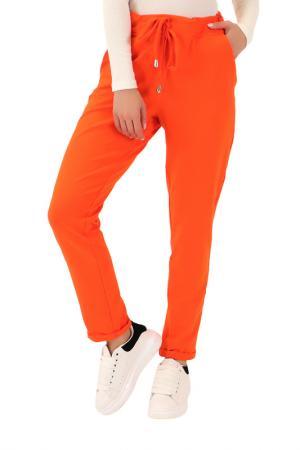 Брюки FASHION ANASTATION. Цвет: оранжевый