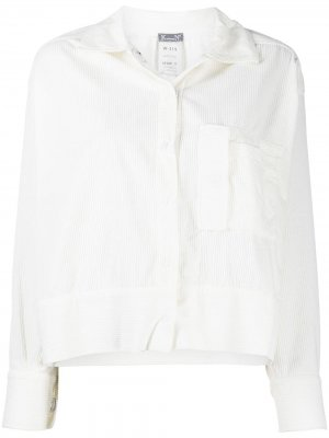 Вельветовая куртка-рубашка Kristensen Du Nord. Цвет: белый