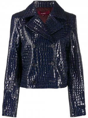 Укороченная куртка с тиснением под кожу крокодила Sies Marjan. Цвет: синий