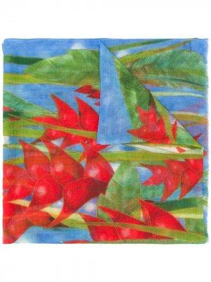 Платок pre-owned с цветочным принтом Patek Philippe. Цвет: синий